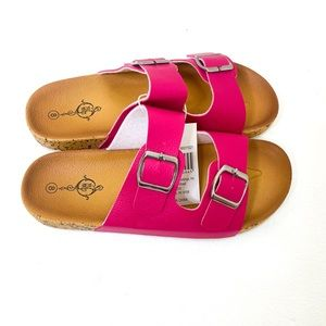 TWO STRAPS SLIDE SLIPPERS SZ: 8